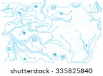 vector background hi tech... | Shutterstock .eps vector #335825840