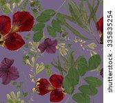 dry herbarium plants seamless... | Shutterstock . vector #335835254