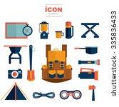 icon camping vector design | Shutterstock .eps vector #335836433