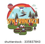 san francisco in colorful...   Shutterstock .eps vector #335837843