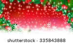 christmas snow holly background | Shutterstock .eps vector #335843888