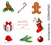 christmas decoration   greeting ... | Shutterstock .eps vector #335844560
