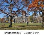 university campus in fall | Shutterstock . vector #335846444