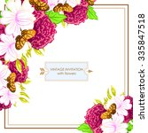 romantic invitation. wedding ... | Shutterstock .eps vector #335847518