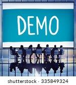 demo preview trailer trial... | Shutterstock . vector #335849324