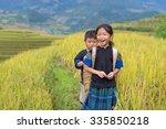 vietnamese hmong children... | Shutterstock . vector #335850218