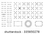 arrows  thin line  symbols and... | Shutterstock .eps vector #335850278