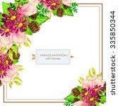 vintage delicate invitation... | Shutterstock .eps vector #335850344