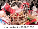 Christmas Hamper Basket With A...