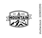 mountain hipster logo template | Shutterstock .eps vector #335853590