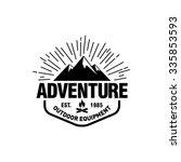 mountain hipster logo template | Shutterstock .eps vector #335853593