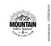mountain hipster logo template | Shutterstock .eps vector #335853614