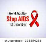 stop aids   1st december aids...   Shutterstock .eps vector #335854286