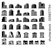 buildings icons vector | Shutterstock .eps vector #335857754
