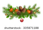 christmas holiday vector spruce ... | Shutterstock .eps vector #335871188