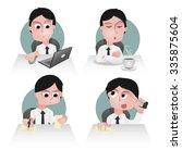 character of an office worker | Shutterstock .eps vector #335875604