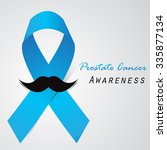 prostate cancer ribbon... | Shutterstock .eps vector #335877134