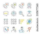 customer feedback icons.... | Shutterstock .eps vector #335877560