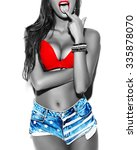 perfect body of stylish sexy ... | Shutterstock . vector #335878070