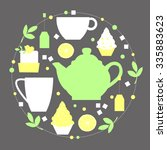 tea break vector illustration.... | Shutterstock .eps vector #335883623