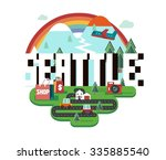 seattle  great destination to... | Shutterstock .eps vector #335885540