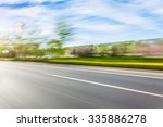 car driving on road in city... | Shutterstock . vector #335886278