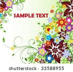flower background | Shutterstock .eps vector #33588955