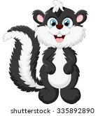 cute skunk cartoon | Shutterstock .eps vector #335892890