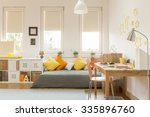 light cozy teen room with color ... | Shutterstock . vector #335896760