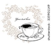 vector illustration with cup of ... | Shutterstock .eps vector #335901149