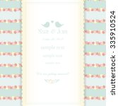 wedding invitation card with... | Shutterstock .eps vector #335910524
