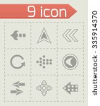 vector arrows icon set on grey... | Shutterstock .eps vector #335914370