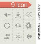 vector arrows icon set on grey...