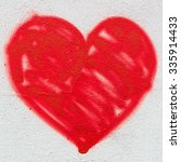 A Big Red Heart  Painted On The ...