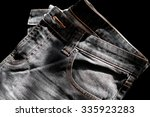 detail of nice jeans in vintage ... | Shutterstock . vector #335923283