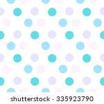 colored circle seamless pattern | Shutterstock .eps vector #335923790