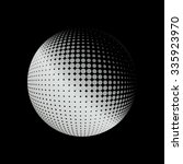 halftone  logo template. white... | Shutterstock . vector #335923970