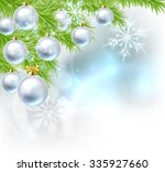 blue and silver abstract... | Shutterstock . vector #335927660