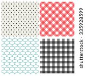 set of classic seamless pattern ... | Shutterstock .eps vector #335928599