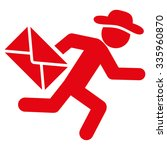human mail courier vector icon. ... | Shutterstock .eps vector #335960870