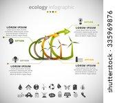 vector illustration of ecology... | Shutterstock .eps vector #335969876