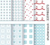 set of eight seamless patterns... | Shutterstock .eps vector #335980373