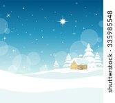 quiet winter night | Shutterstock .eps vector #335985548