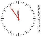 vector clock face   easy change ... | Shutterstock .eps vector #33598873