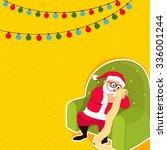 Cute Santa Claus Sitting On...
