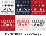 christmas winter pattern print... | Shutterstock .eps vector #336001310