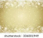 golden background with  frame... | Shutterstock .eps vector #336001949