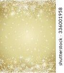 golden background with  frame... | Shutterstock .eps vector #336001958