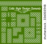 celtic knot frame and design...   Shutterstock .eps vector #336003548