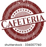 cafeteria grunge stamp | Shutterstock .eps vector #336007760